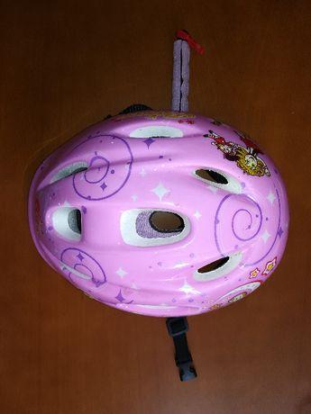 Kask rowerowy różowy Decathlon