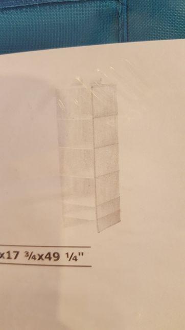 SKUBB Wisząca półka, 6 przegród kolor jasnoniebieski 35x45x125 cm nowa