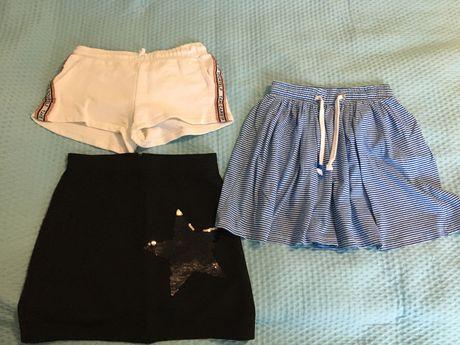 2 spódniczki + krótkie spodenki