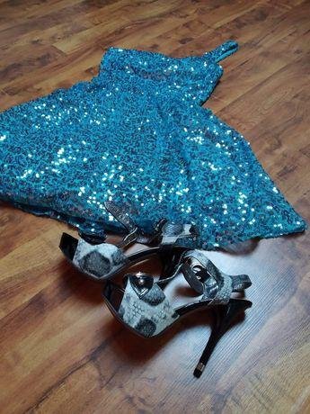 Śliczna Sukienka wesele sylwester studniówka