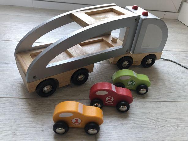 Laweta samochód drewniany marki Janod