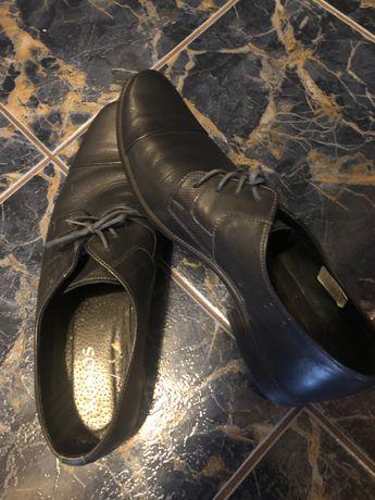 Pantofle męskie skórzane 42