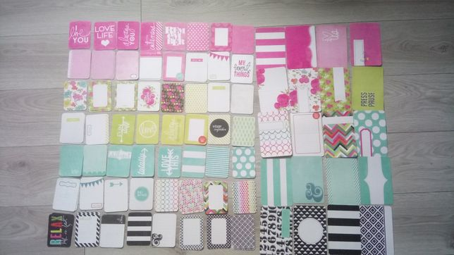 Karty project life scrapbooking journaling