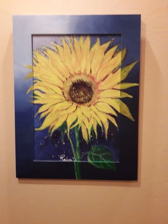 Sprzedam obraz ze słonecznikiem