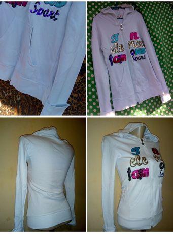 Белая кофта.  Спортивная одежда.Женская,Белая кофта.