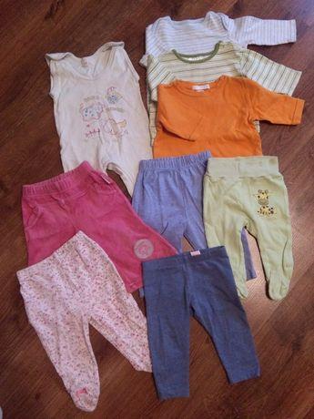 Zestaw: śpiochy, pół śpiochy, spodnie, bluzki, bluzeczki