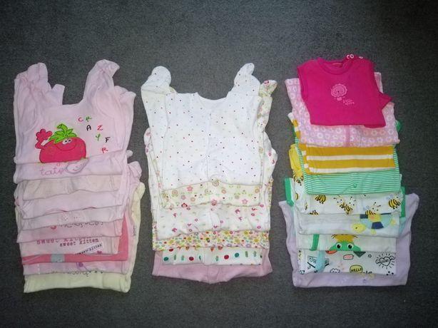 Paka ubranek dla dziewczynki Śpiochy Pajace Rampersy 56-86