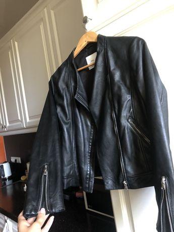 Кожанная куртка кожанка Mango