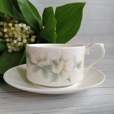 Чайный кофейный сервиз фарфор чашка блюдце