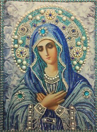 Obraz religijny diamond painting haft Martyja Matka Boska