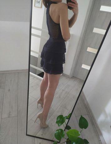 Mini granatowa sukienka