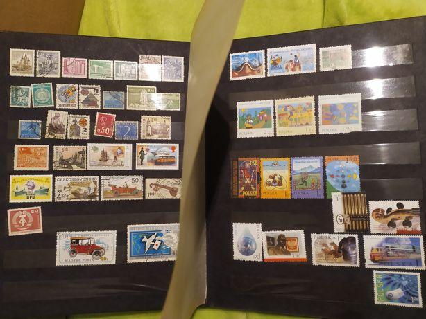 Klaser ze znaczkami znaczki polskie zagraniczne 240 Sztuk