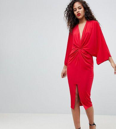 Nowa czerwona sukienka flounce London