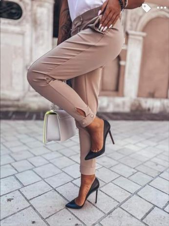Spodnie napy beż Sempre Gianmarko