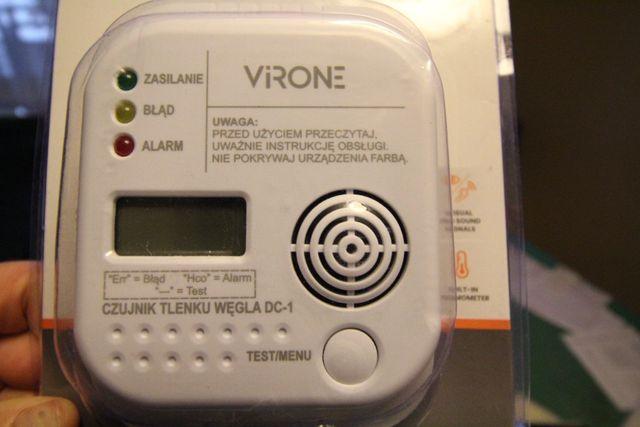 2w1 Czujnik czadu / tlenku węgla + temperatury LCD