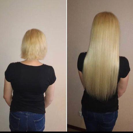 Наращивание волос и кератиновое выпрямление