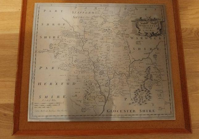 Mapa Hrabstwa Anglii