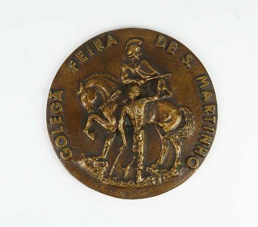 Medalha Metal Bronzeado - Golegã Feira de S. Martinho 1968