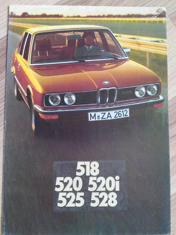 Prospekt BMW 518; 520; 520i 525; 528i 1976