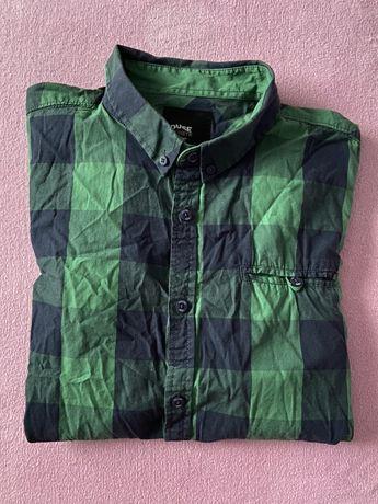 Zielona koszula męska z krótkim rękawem House XL