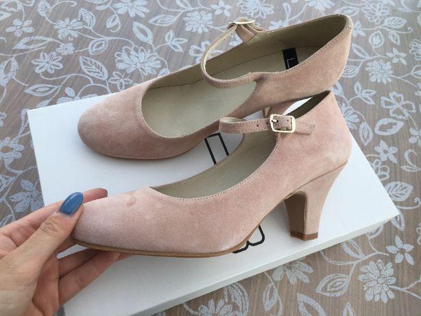 czółenka szpilki lab make up 39 pudrowy róż nude buty damskie
