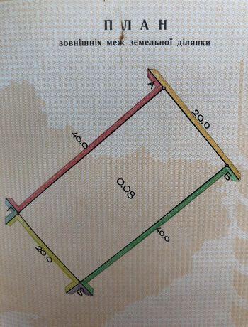 Земельна ділянка, план 8 сот. м.Радехів