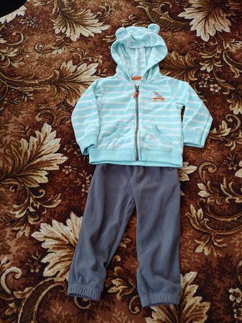 Флисовый костюм комплект Carter's 12м