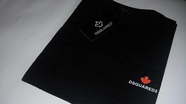 t-shirt dsquared2 koszulka czarna