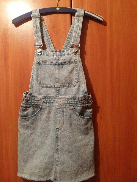 H&M spódnica na szelkach roz 140