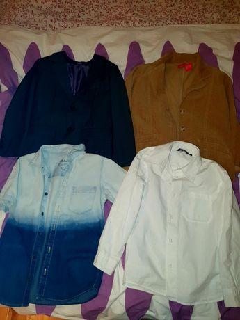 Marynarki i koszule dla chłopca rozmiar 116 i 122