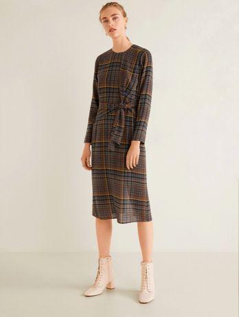 Новое тёплое тонкое платье манго, оригинал осень/зима, на размер s