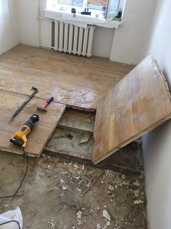 Демонтаж стен-плитки-полов с вывозом