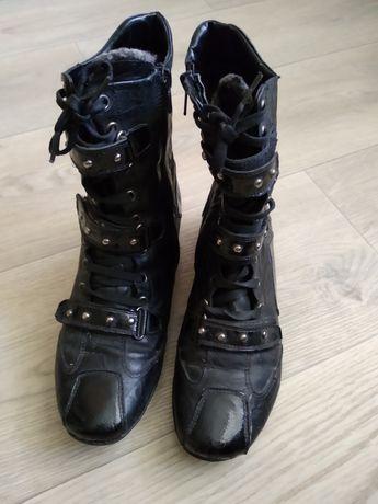 Зимние кожаные ботинки 37 р