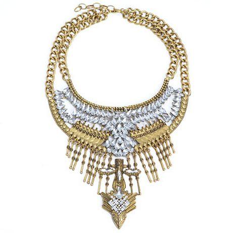 OKAZJA Naszyjnik kolia gold crystal Top Look przecena