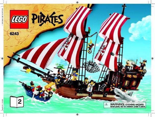 Lego 6243 Pirates Корабль Бородатого Капитана