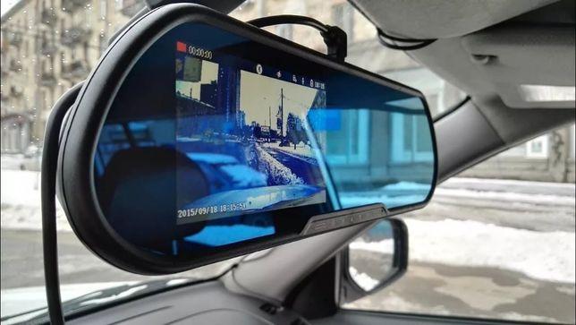 Зеркало-регистратор с камерой заднего вида 2 камеры DVR FullHD!хит