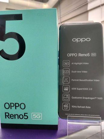 Oppo Reno 5 5G 8/128 Gb! Niebieski , Nieużywany ! , 24 Miesiące Gwar !