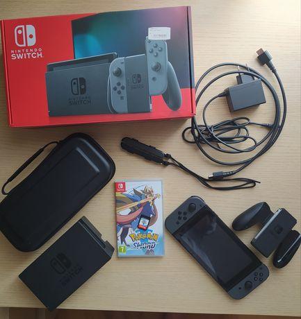 Nintendo switch+ pokemon sword - stan idelny