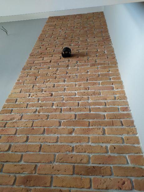 Cegła Na Ścianę , kolor naturalny jasny , jak z rozbiórki lico cegły