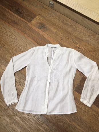 Damska biala lniana koszula r 38