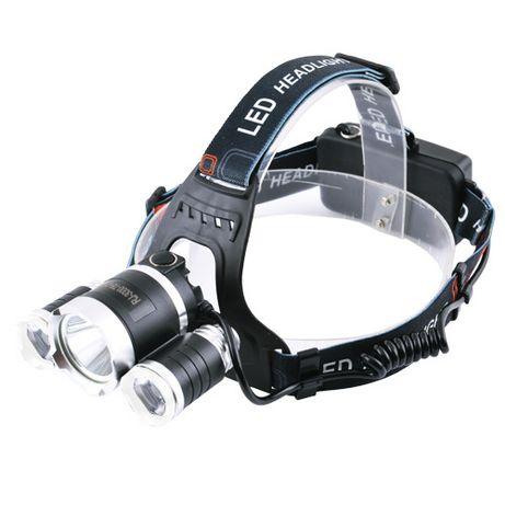 Налобный фонарь Bailong RJ-3000-T6+2*XPE Фонарь для рыбалки, супер ярк