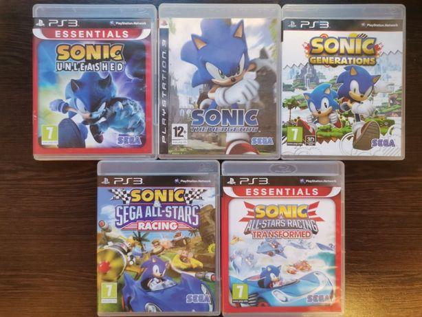 Mega zestaw 5 części gry Sonic ps3 playstation wysyłka