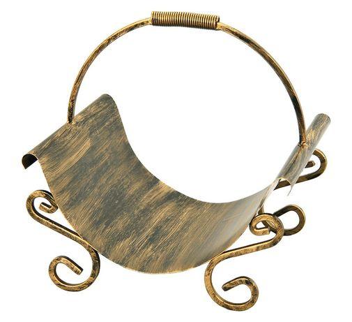 Kosz na drewno metalowy solidny NOWY