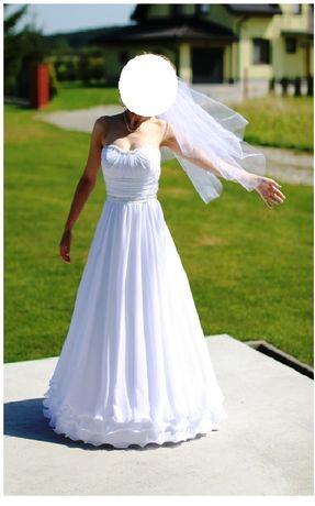 Suknia ślubna klasyczna r. 34-36