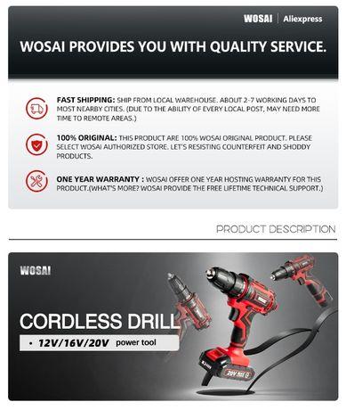 Новый WOSAI 12В Беспроводная Дрель электрическая 1 аккумулятор