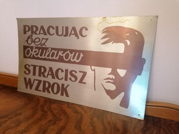 Tablica Ostrzegawcza Prl , Reklama