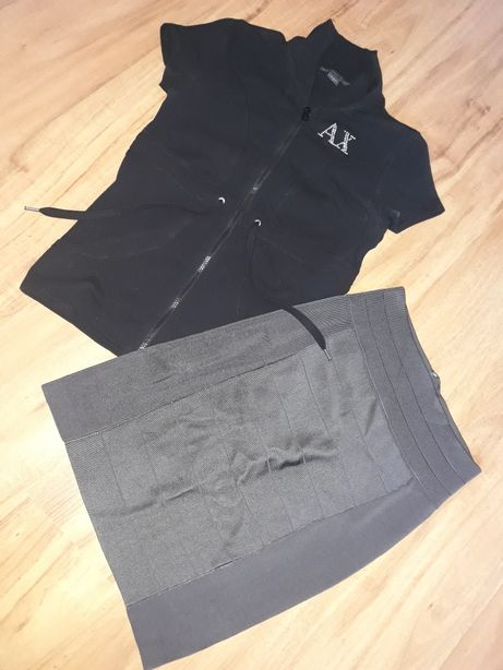 Bluzka i spódniczka Armani Exchange