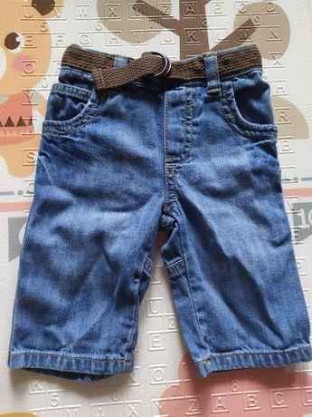 Jeansy z paskiem rozmiar 3-6 miesięcy
