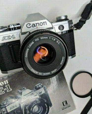 Canon Ae-1 + Lente 50mm f/1.8 - A Funcionar a 100%
