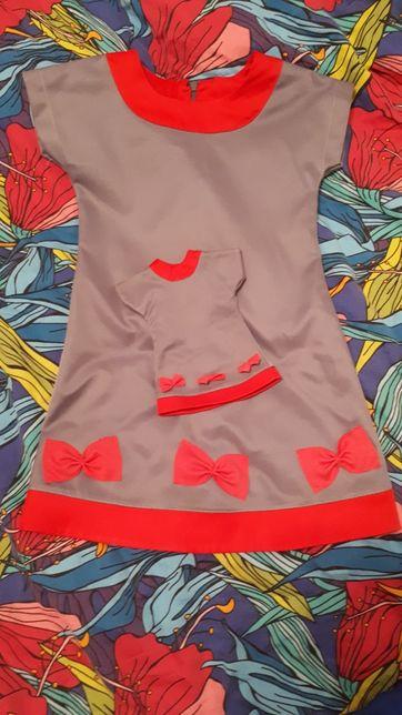 Sukienka dla lalki i córeczki różne. 104/110